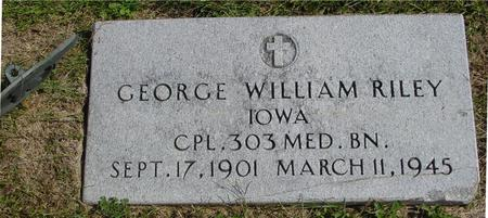 RILEY, GEORGE WM. - Woodbury County, Iowa | GEORGE WM. RILEY