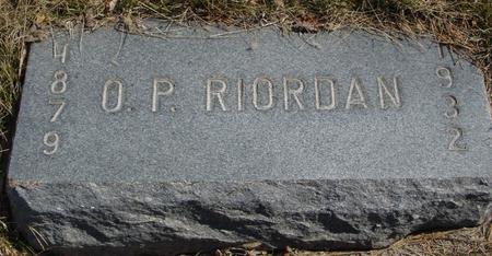 RIORDAN, O. P. - Woodbury County, Iowa   O. P. RIORDAN
