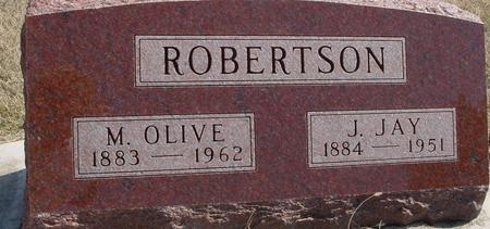 ROBERTSON, J. JAY & M. OLIVE - Woodbury County, Iowa | J. JAY & M. OLIVE ROBERTSON