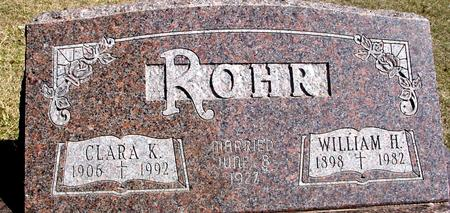 ROHR, WILLIAM H. & CLARA K. - Woodbury County, Iowa | WILLIAM H. & CLARA K. ROHR