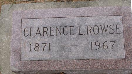 ROWSE, CLARENCE L. - Woodbury County, Iowa | CLARENCE L. ROWSE