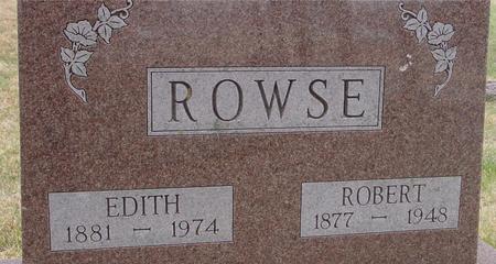 ROWSE, ROBERT & EDITH - Woodbury County, Iowa   ROBERT & EDITH ROWSE
