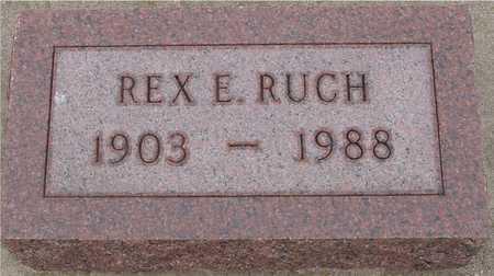 RUCH, REX. E. - Woodbury County, Iowa | REX. E. RUCH