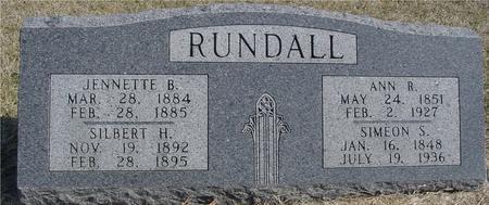 RUNDALL, SIMEON & ANN R. - Woodbury County, Iowa   SIMEON & ANN R. RUNDALL