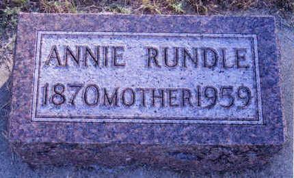 RUNDLE, ANNIE - Woodbury County, Iowa | ANNIE RUNDLE