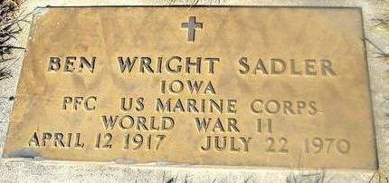 SADLER, BEN WRIGHT - Woodbury County, Iowa | BEN WRIGHT SADLER