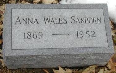 SANBORN, ANNA WALES - Woodbury County, Iowa | ANNA WALES SANBORN