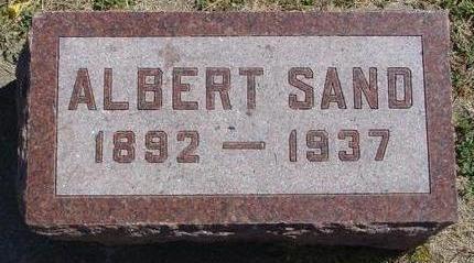 SAND, ALBERT - Woodbury County, Iowa | ALBERT SAND