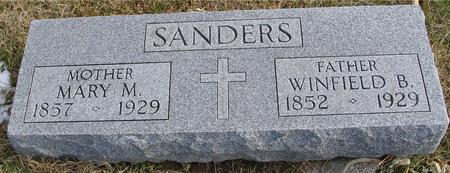 SANDERS, WINFIELD & MARY - Woodbury County, Iowa   WINFIELD & MARY SANDERS