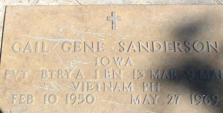 SANDERSON, GAIL GENE - Woodbury County, Iowa   GAIL GENE SANDERSON