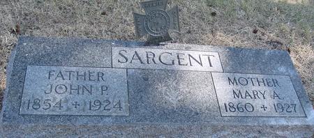 SARGENT, JOHN P. & MARY A. - Woodbury County, Iowa | JOHN P. & MARY A. SARGENT