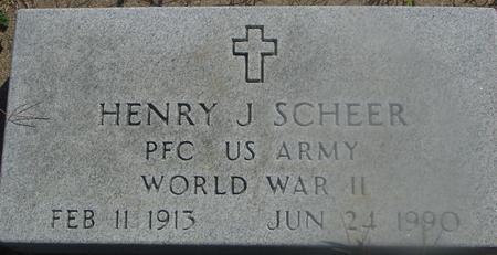 SCHEER, HENRY J. - Woodbury County, Iowa   HENRY J. SCHEER