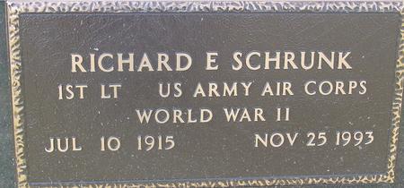 SCHRUNK, RICHARD E. - Woodbury County, Iowa   RICHARD E. SCHRUNK