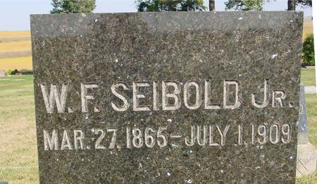 SEIBOLD, W. F. ,   JR. - Woodbury County, Iowa | W. F. ,   JR. SEIBOLD