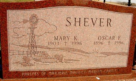 SHEVER, OSCAR F & MARY K. - Woodbury County, Iowa | OSCAR F & MARY K. SHEVER