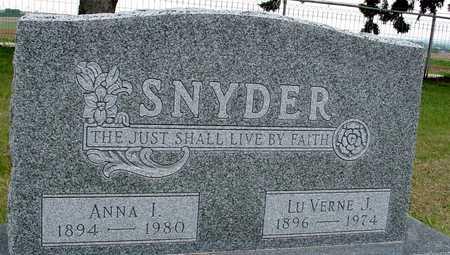 SNYDER, LUVERNE & ANNA I. - Woodbury County, Iowa | LUVERNE & ANNA I. SNYDER