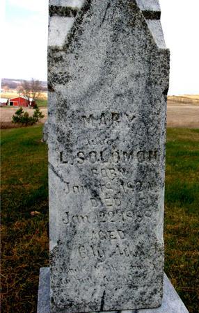 SOLOMON, MARY - Woodbury County, Iowa   MARY SOLOMON