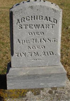 STEWART, ARCHIBALD - Woodbury County, Iowa   ARCHIBALD STEWART