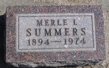 SUMMERS, MERLE I. - Woodbury County, Iowa | MERLE I. SUMMERS