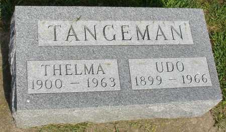 TANGEMAN, UDO & THELMA - Woodbury County, Iowa | UDO & THELMA TANGEMAN