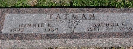 TATMAN, ARTHUR & MINNIE - Woodbury County, Iowa   ARTHUR & MINNIE TATMAN