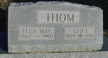 THOM, GEORGE & ELLA MAY - Woodbury County, Iowa   GEORGE & ELLA MAY THOM