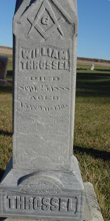 THROSSEL, WILLIAM - Woodbury County, Iowa   WILLIAM THROSSEL