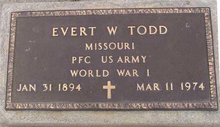 TODD, EVERT W. - Woodbury County, Iowa   EVERT W. TODD