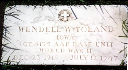 TOLAND, WENDELL - Woodbury County, Iowa   WENDELL TOLAND