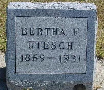 UTESCH, BERTHA F. - Woodbury County, Iowa | BERTHA F. UTESCH