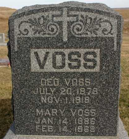VOSS, GEORGE & MARY - Woodbury County, Iowa   GEORGE & MARY VOSS