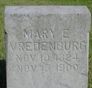VREDENBURG, MARY E. - Woodbury County, Iowa   MARY E. VREDENBURG