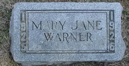 WARNER, MARY JANE - Woodbury County, Iowa   MARY JANE WARNER