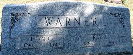 WARNER, RAY A. & FERN - Woodbury County, Iowa   RAY A. & FERN WARNER
