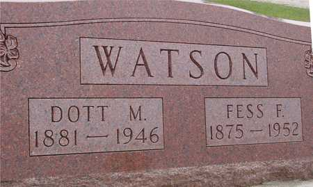 WATSON, FESS F. & DOTT M. - Woodbury County, Iowa | FESS F. & DOTT M. WATSON