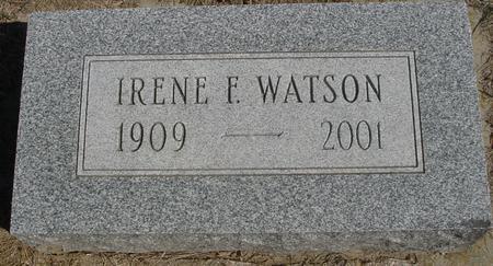 WATSON, IRENE F. - Woodbury County, Iowa   IRENE F. WATSON