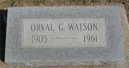 WATSON, ORVAL G. - Woodbury County, Iowa | ORVAL G. WATSON