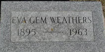WEATHERS, EVA - Woodbury County, Iowa   EVA WEATHERS