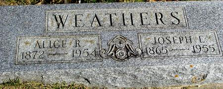 WEATHERS, JOSEPH E. & ALICE R - Woodbury County, Iowa   JOSEPH E. & ALICE R WEATHERS