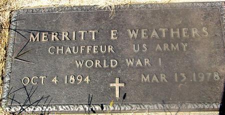 WEATHERS, MERRITT - Woodbury County, Iowa   MERRITT WEATHERS