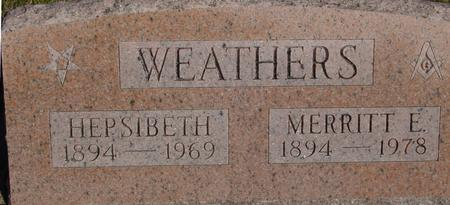 WEATHERS, MERRITT & HEPSIBETH - Woodbury County, Iowa   MERRITT & HEPSIBETH WEATHERS