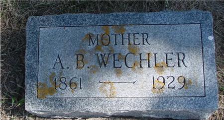 WECHLER, A. B. - Woodbury County, Iowa   A. B. WECHLER
