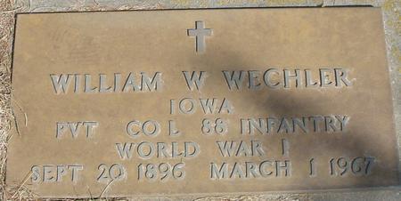 WECHLER, WILLIAM W. - Woodbury County, Iowa | WILLIAM W. WECHLER
