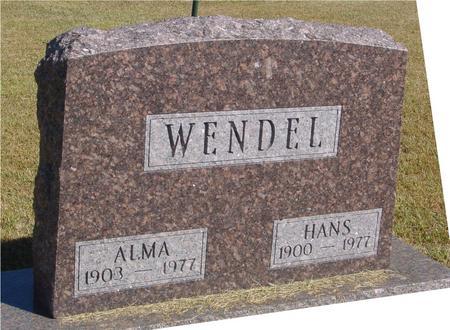 WENDEL, HANS & ALMA - Woodbury County, Iowa | HANS & ALMA WENDEL