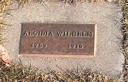 WILHELM, AEGIDIA - Woodbury County, Iowa | AEGIDIA WILHELM