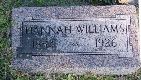 WILLIAMS, HANNAH - Woodbury County, Iowa   HANNAH WILLIAMS