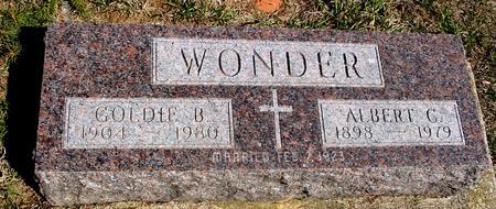 WONDER, ALBERT G & GOLDIE B - Woodbury County, Iowa | ALBERT G & GOLDIE B WONDER