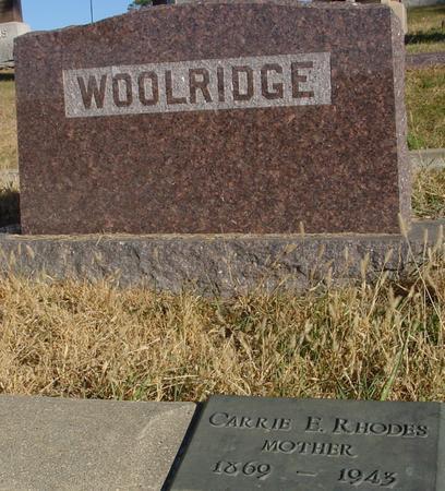 RHODES WOOLRIDGE, CARRIE E. - Woodbury County, Iowa | CARRIE E. RHODES WOOLRIDGE