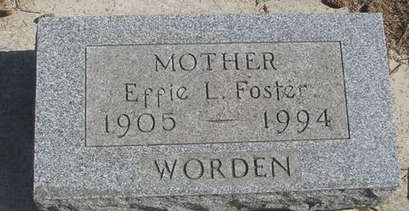 FOSTER WORDEN, EFFIE L. - Woodbury County, Iowa | EFFIE L. FOSTER WORDEN
