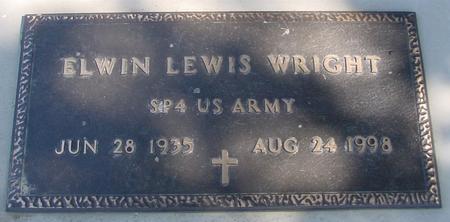 WRIGHT, ELWIN LEWIS - Woodbury County, Iowa   ELWIN LEWIS WRIGHT